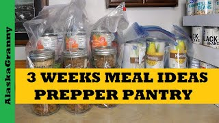 Prepper Pantry Shelf Meals From Food Storage - 3 Weeks of Dinners Recipes