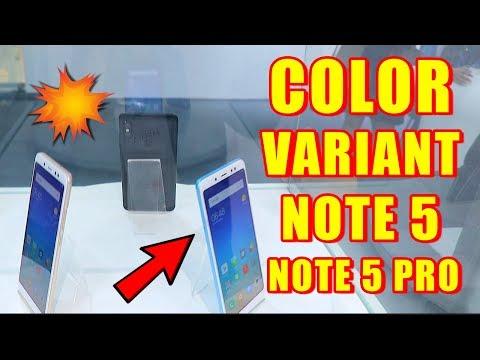 Note 5 & Note 5 Pro Color Comparison, Blue VS Rose Gold VS Gold VS Black