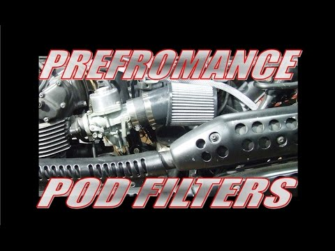 Performance cafe racer Pod filters