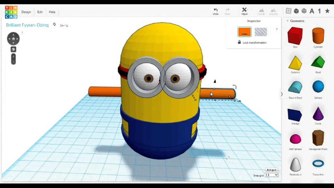 3d minion building tinkercad youtube Tinkercad 3d