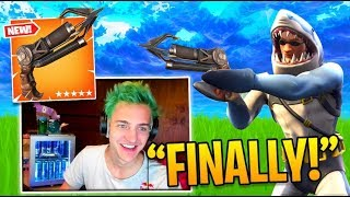 "Ninja Reacts to ""New Grappling Hook and High Stakes LTM!"" (Twitch Moments Fortnite Reaction)"