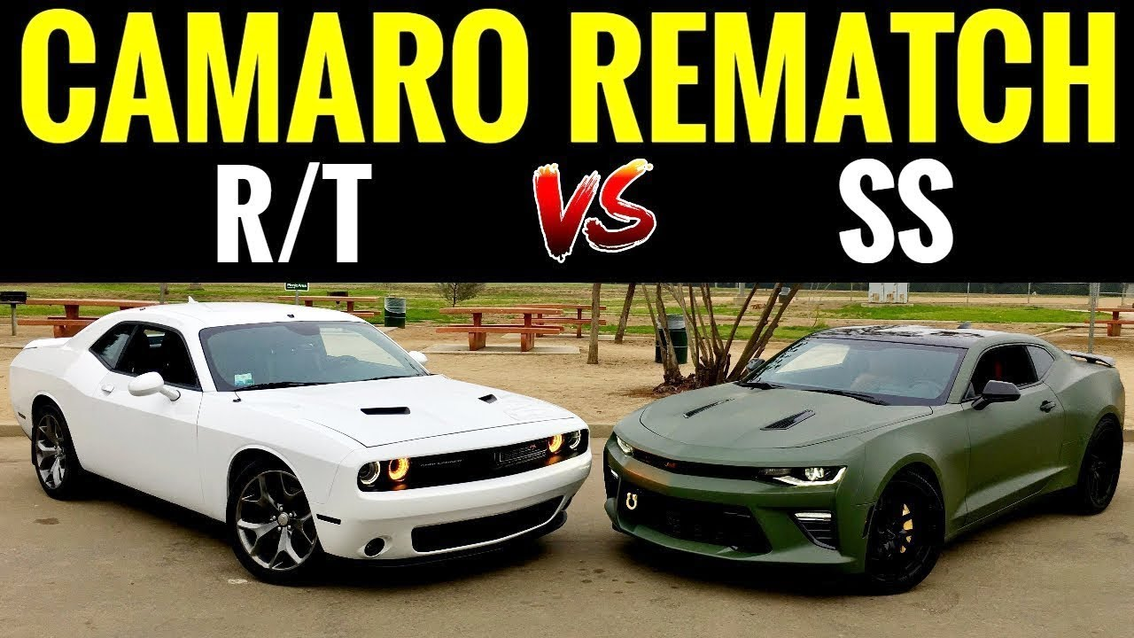 Dodge Challenger Vs Charger >> Camaro SS vs Dodge Challenger RT | STREET RACE! - YouTube