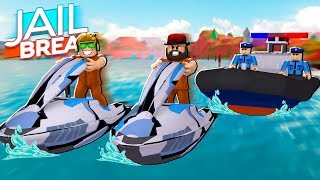 NOUVEAU JET SKIS à ROBLOX JAILBREAK / RUNNING FROM COPS IS SO FUN MAINTENANT!!!