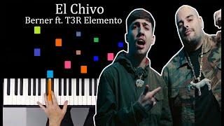 El Chivo  Berner ft T3R Elemento PIANO TUTORIAL MIDI