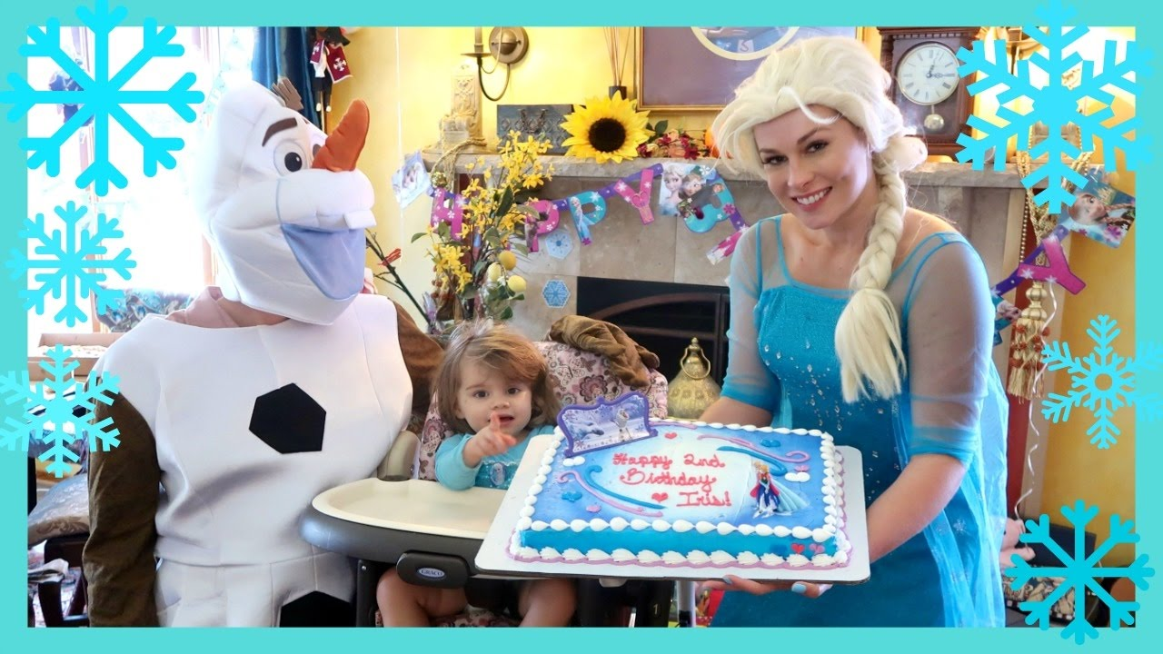 DISNEY FROZEN THEMED BIRTHDAY PARTY With Elsa And Olaf Iriss 2nd