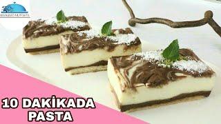 10 dakikada Yaşpasta tadında -Çikolatalı  Ebruli Yaz   Pastası tarifi▪Masmavi3mutfakta▪