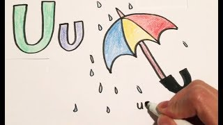 Learn to draw ~ U for umbrella