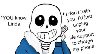 Sans Just ROASTED Linda. (Undertale Animation & PTA Comic Dub …