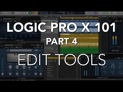 LOGIC PRO X 101 - #04 Audio Edit Tools, Snap Modes & Edit Functions