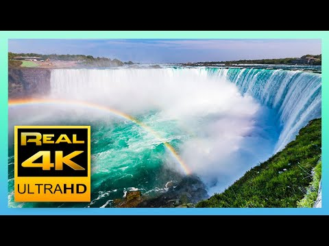 The Amazing Niagara Falls in 4K - Relaxing Piano Music - 4k UHD TV Screensaver
