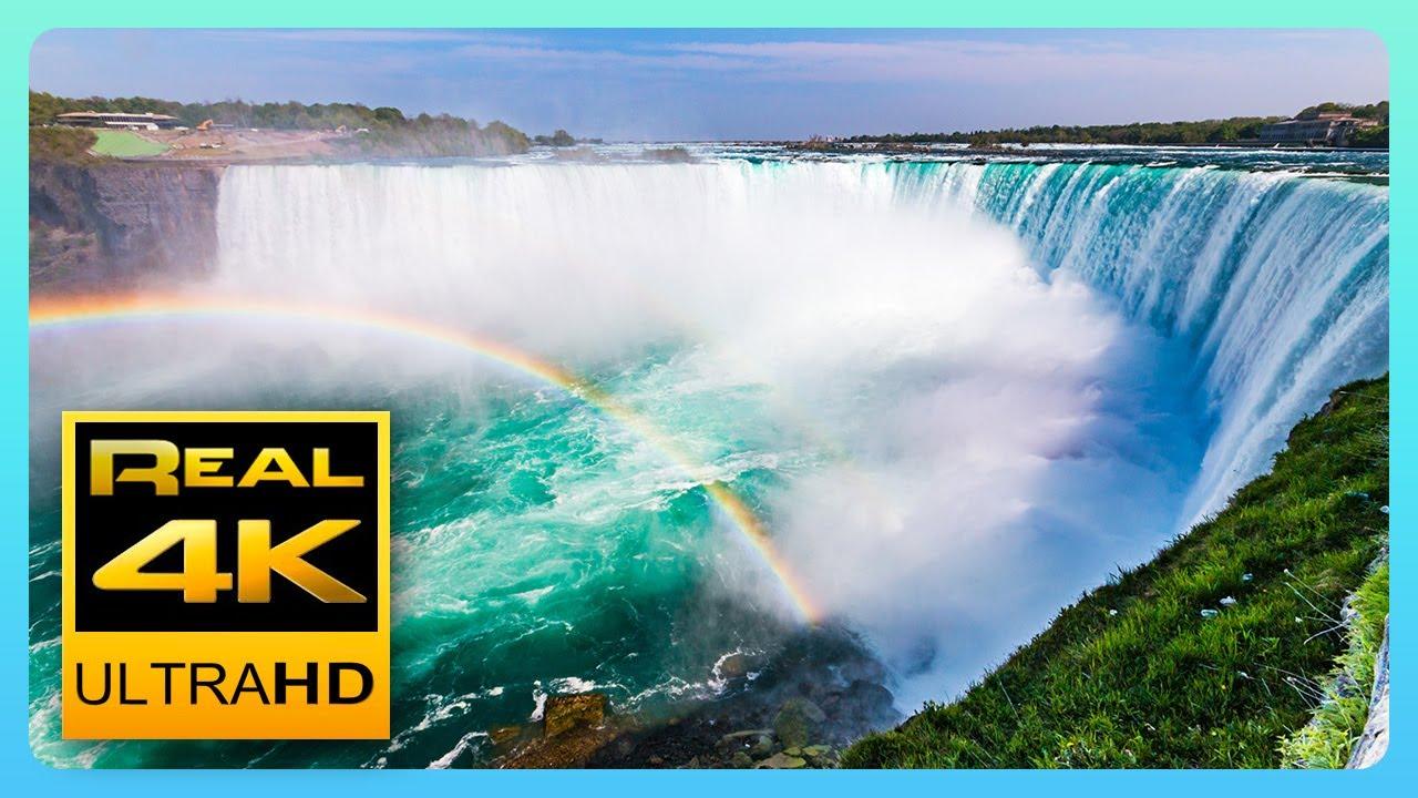 Niagara Falls in 4K - Amazing Views and Relaxing Piano Music - 4k UHD TV Screensaver