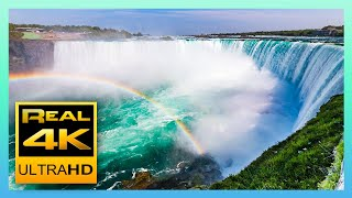 Niagara Falls in 4K - Amazing Views and Relaxing Piano Music - 4k UHD TV Screensaver