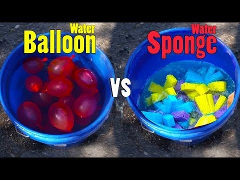 Water Balloon vs Water Sponge