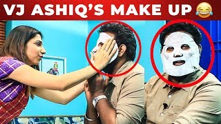 VIJAY TV Bhavana's Make Up Attempt to Vj Ashiq | Fun Unlimited | What's Inside The Handbag