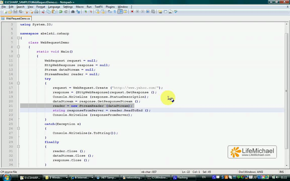 C# WebRequest Demo