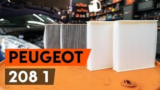 How to change Air conditioner filter on PEUGEOT 208 - online free video