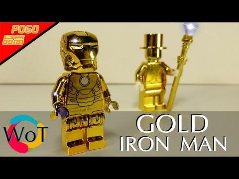 Золотой Лего Железный человек Pogo PG401