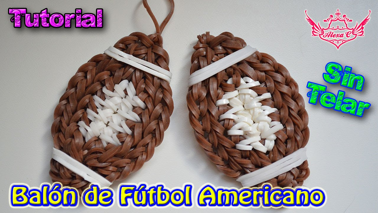 bad942ad94826 ♥ Tutorial  Balón de Fútbol Americano (sin telar) ♥ - YouTube