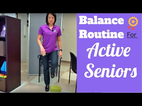 Balance exercise for seniors to prevent falls