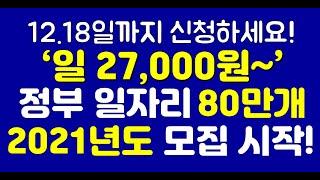 1일 27,000원 ~, 2021년도 정부 노인 일자리…