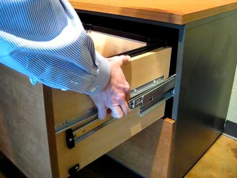 How to remove Techline Lateral File drawers - YouTube