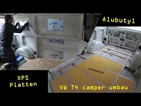VW T4 umbau zum Camper Van - #07 - Alubutyl kleben & Boden dämmen | Ben am Leben
