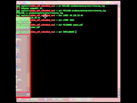Metasploit: Embedding a payload into .PDF file