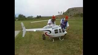 Aeromodelo Helicóptero faz voo perfeito
