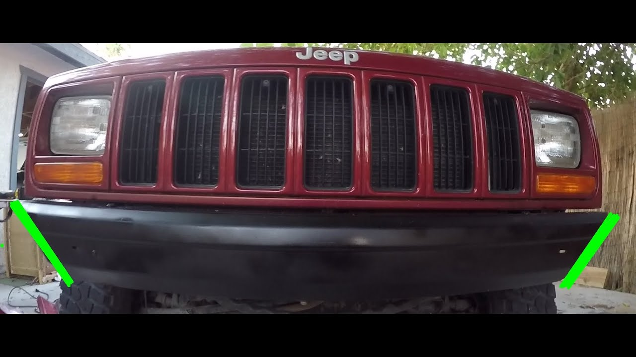 Jeep Cherokee Bumper Removal And Modification  U0026 39 97-01