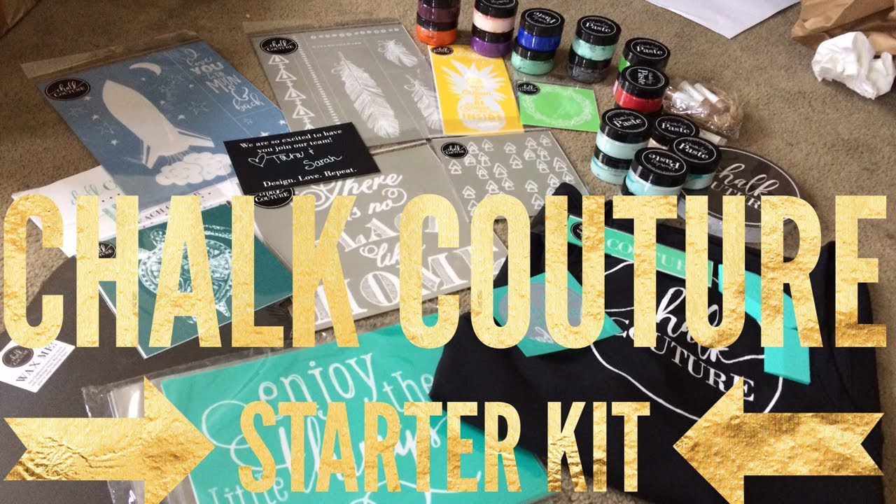 Chalk Couture Starter Kit! - YouTube