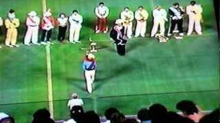 The 1984 drum corps Grand prix at giants stadium New Jersey.  Retreat- 2