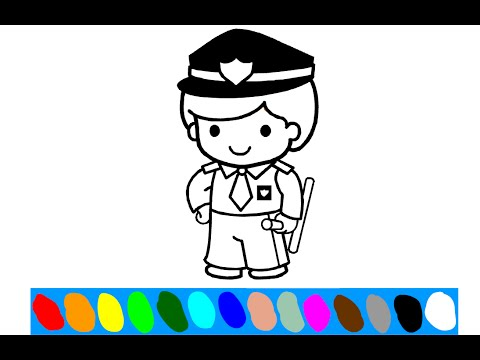 Policeman Coloring Pages For Kids Policeman Coloring