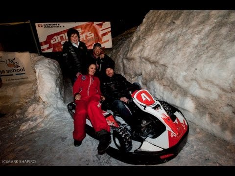 WRC Sebastian Loeb ice kart racing at Karting Extreme Verbier Suisse
