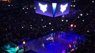Charlotte Hornets 2014 Opening game Player Intro.