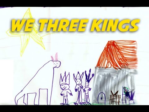 We Three Kings    Christmas Carols - lyrics video for karaoke