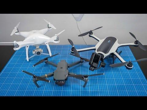 Vergleich - Phantom 4 vs Mavic vs Karma Drone