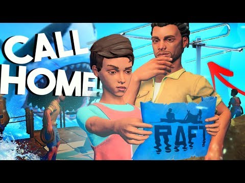 Raft - WE'RE CALLING HOME! - Multiplayer, Research Table, Shark Attack!  - Raft Gameplay Update