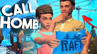 Raft - RESCUE!?! - Multiplayer, Research Table, Shark Attack & MORE!  - Raft Gameplay Update