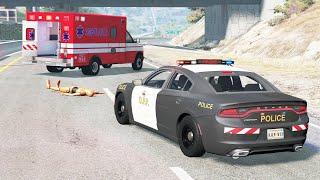 Realistic Emergency Vehicles Crashes #3 - BeamNG drive (4K)