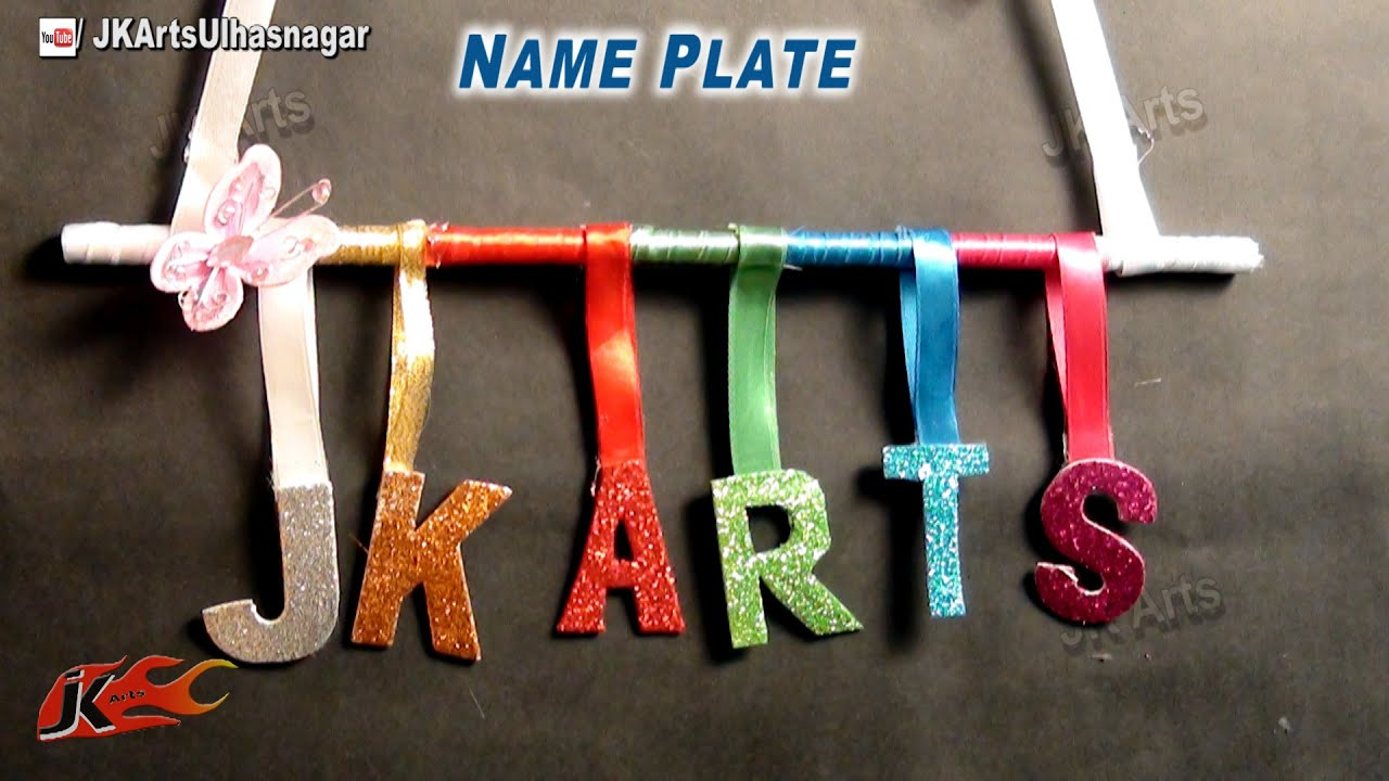DIY Door Name Plate for Kids Room Easy Craft for Kids