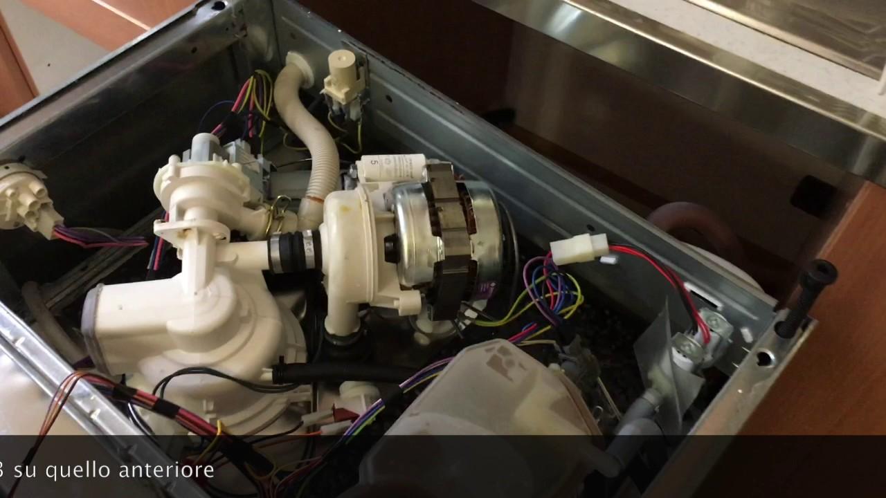 Sostituire elettropompa lavastoviglie Ariston - YouTube
