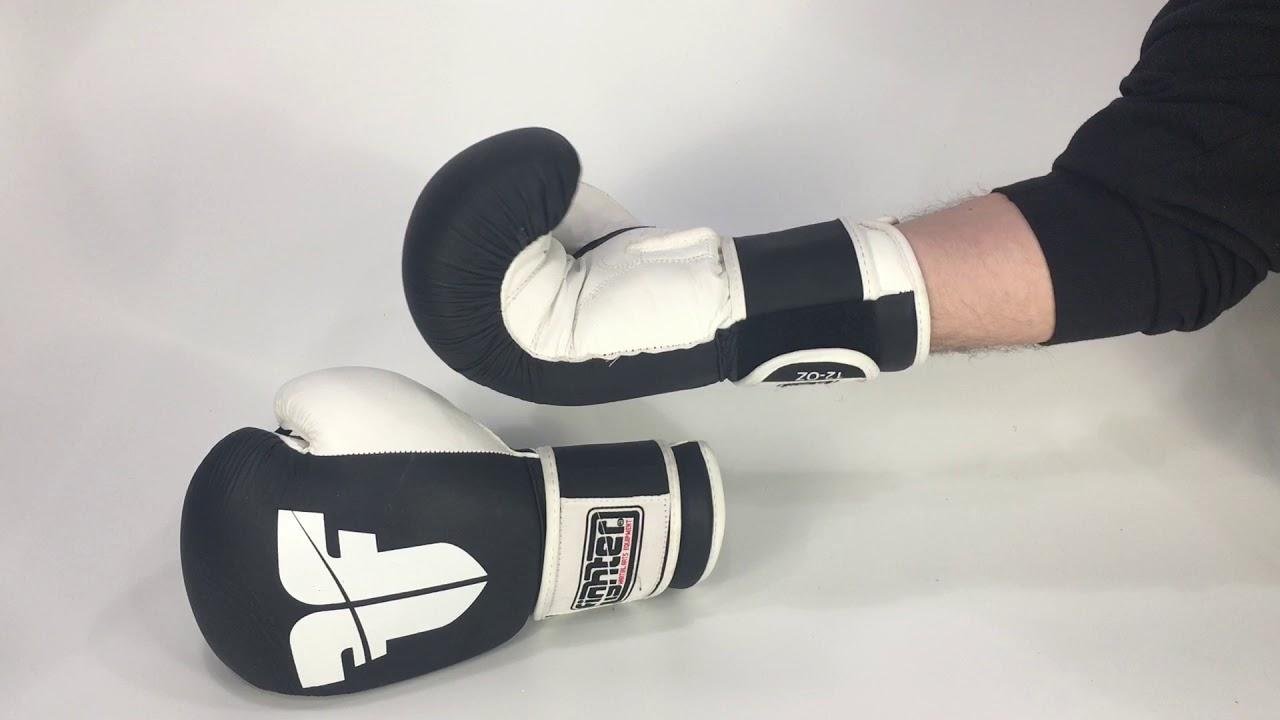e6568bc1a60 Boxerské rukavice Fighter MUAY THAI černá bílá - YouTube