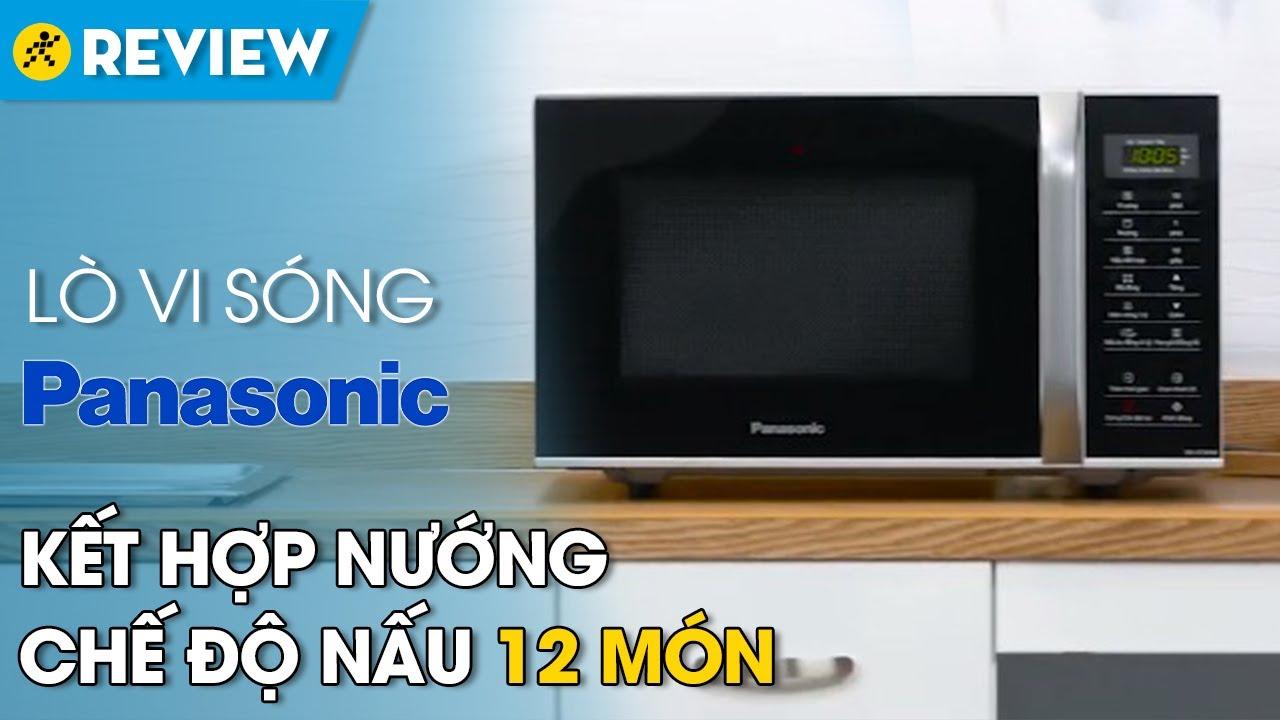 Lò vi sóng Panasonic 23L: có nướng, chế độ nấu 12 món (NN-GT35HMYUE) • Điện máy XANH