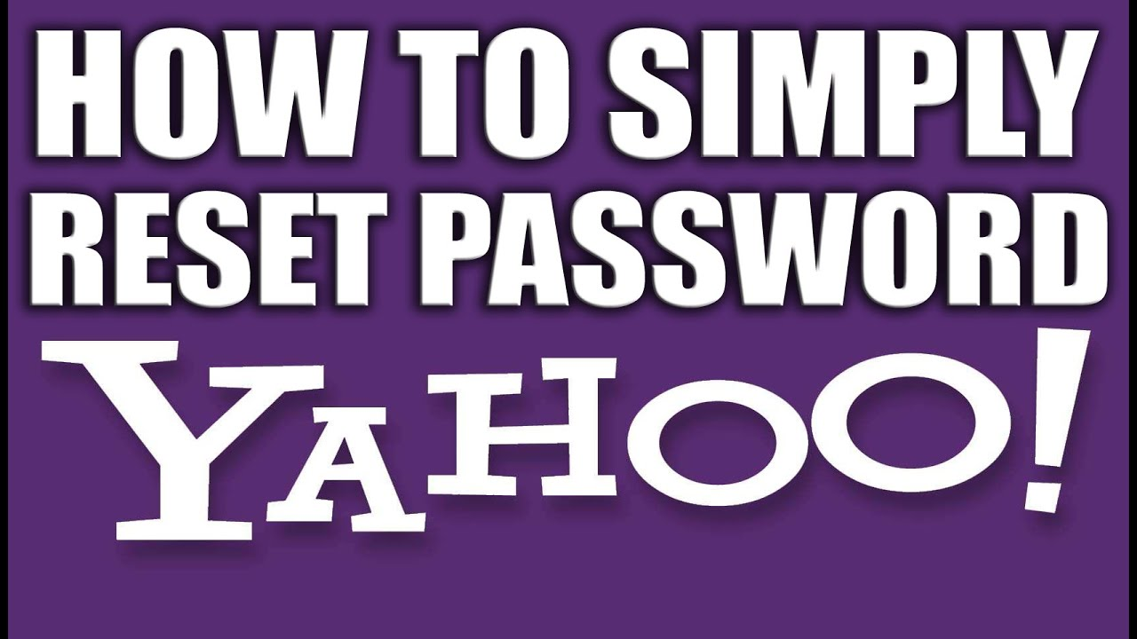 How to Simply Reset Yahoo Email Password - Yahoo Email Services