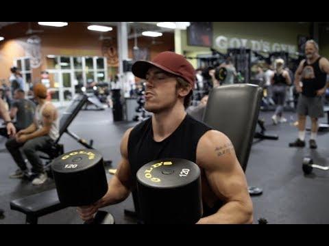 120 lbs Dumbbell Shoulder Press | Full Kinobody Workout