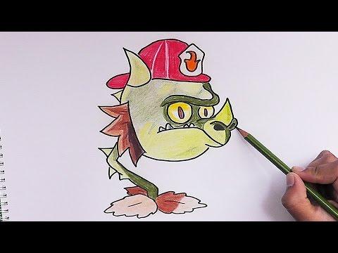 Dibujar boca de dragon bombero plantas vs zombies 2 for Plantas para dibujar