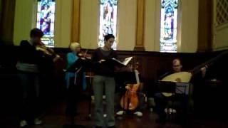 I Furiosi rehearses Auld Lang Syne.