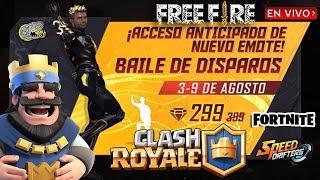 🔴 Hoy Jugando Variedad de Juegos - Free Fire - Clash Royale - Speed Drifters y Fortnite