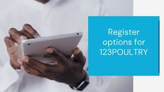Register options for 123POULTRY