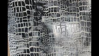 Имитация кожи крокодила (венецианка)
